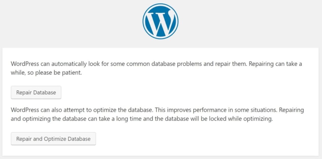 Database Error Solution