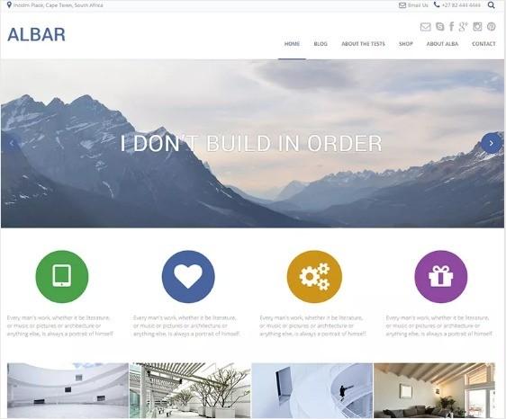 Albar Free WordPress Theme