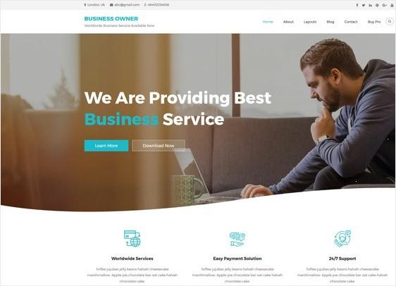 Business Owner Free WordPress Theme