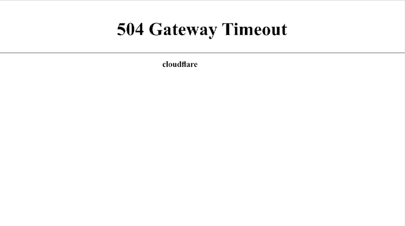 Cloudflare Error 504 2