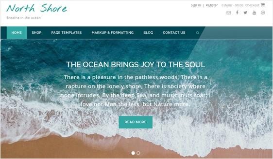 North Shore Free WordPress Theme