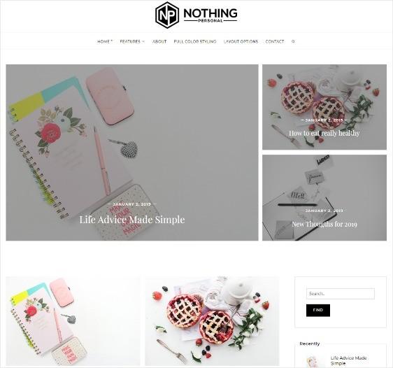 Nothing Personal Free WordPress Theme